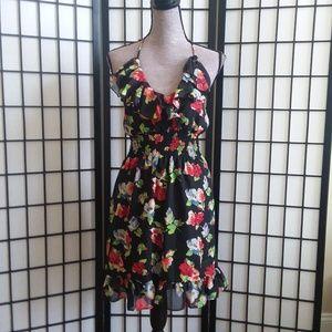 Alyn Paige Floral Halter Top Dress